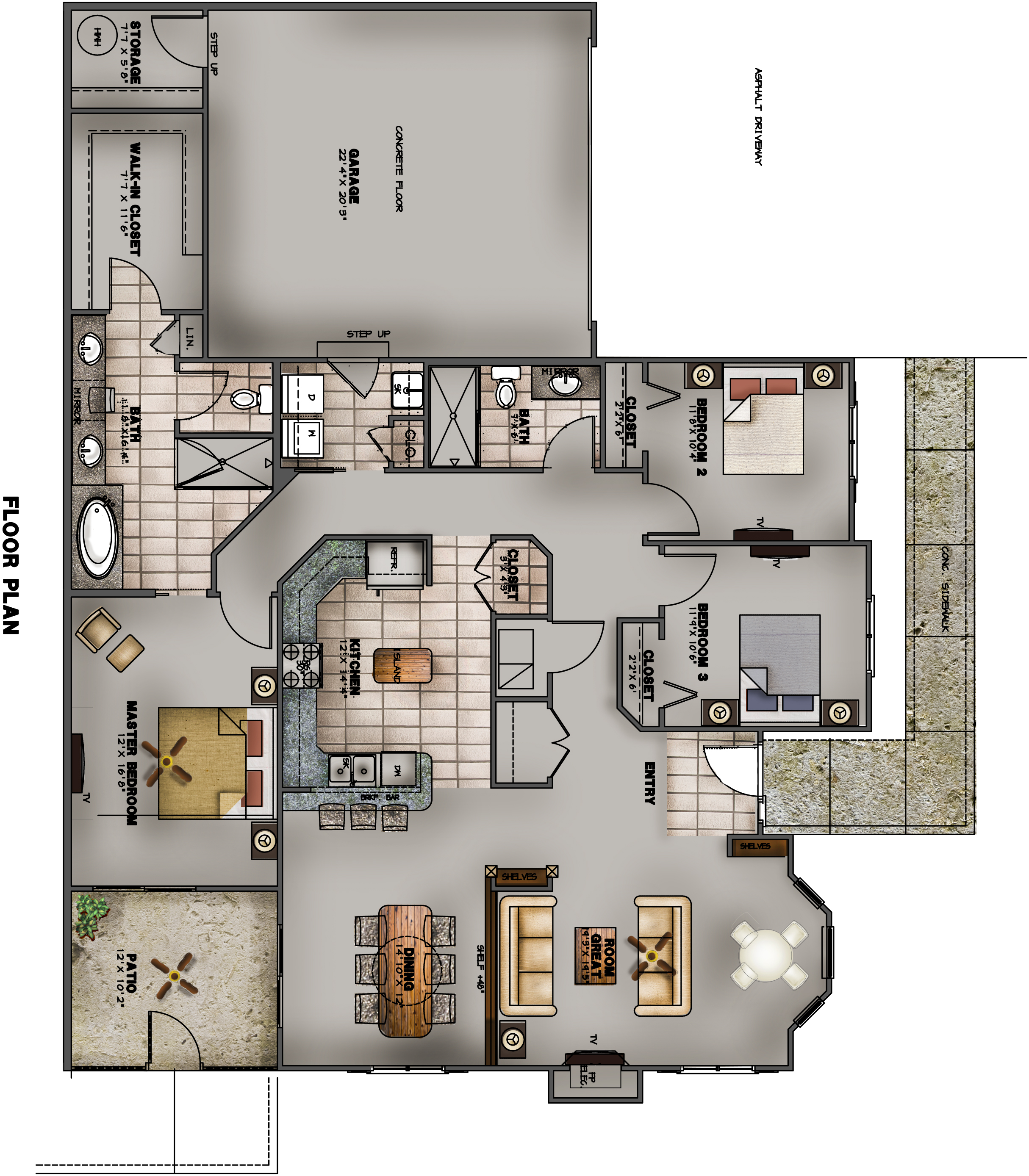 The villas at branson hills for Villa floor plans